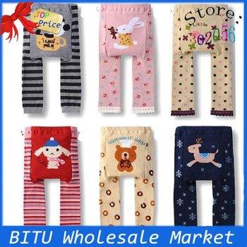 3pcs/lot Stock sell /100% cotton Baby legging pants BB001p