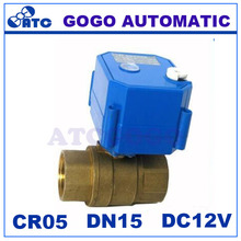 """CWX-25S DN15 1/2"""" bsp 2 way brass MINI motorized valve with manual override, electric ball valve DC12V CR05 5 wires control(China (Mainland))"""