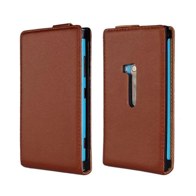 buy Vertical Genuine Leather Flip Magnet Cover Cell Phones Case Skin