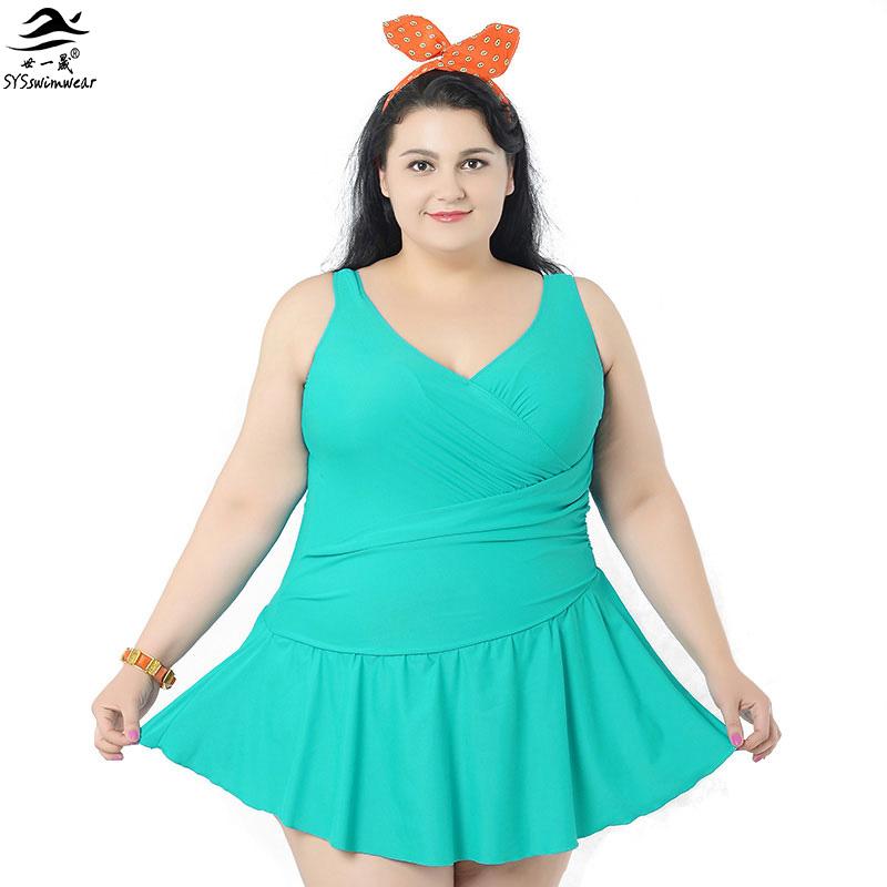 2016 women summer dress one piece swimsuits big women extra large size swimwear big girl. Black Bedroom Furniture Sets. Home Design Ideas