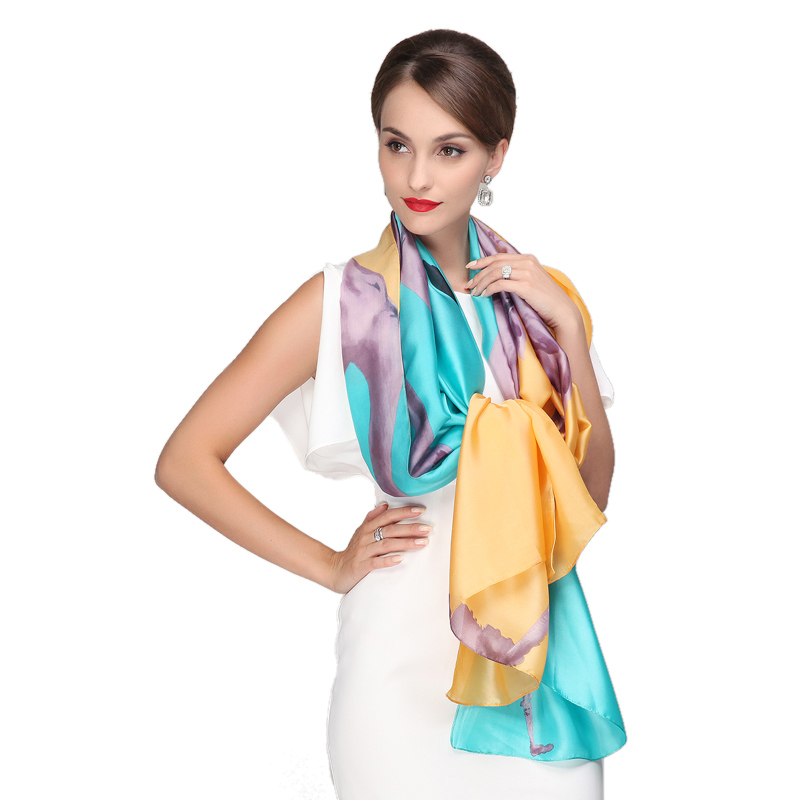 2016 new super large cheap candy color silk feeling fashion satin scarf women long scarf shawl designer brand accessorie hijab(China (Mainland))