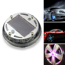 2015 Free shipping R1B1 Fashion Solar Power 12 LED Auto Wheel Light Tire Lamp Car Signal Decoration(China (Mainland))