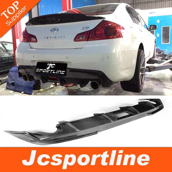 carbon fiber G37 JC styling car rear diffuser lip for infiniti,auto bumper diffuser fit G37 4door 2010-2013 (not fit USA market)(Hong Kong)