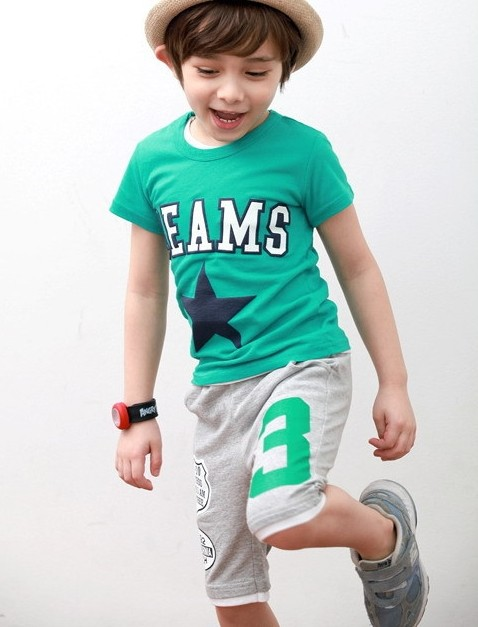2014 summer children's clothing baby 100% cotton digital 3 sports pants boys Shorts kids clothes - lily red's store