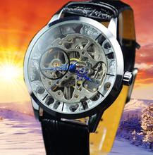 Ganador mens relojes mecánicos manuales reloj ocasional moda para hombre comercial mira j173