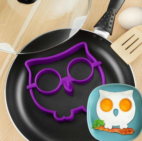 HOT! Breakfast Silicone Owl Animal Fried Egg Mold Pancake Egg Ring Shaper Funny Creative Kitchen Tool(China (Mainland))