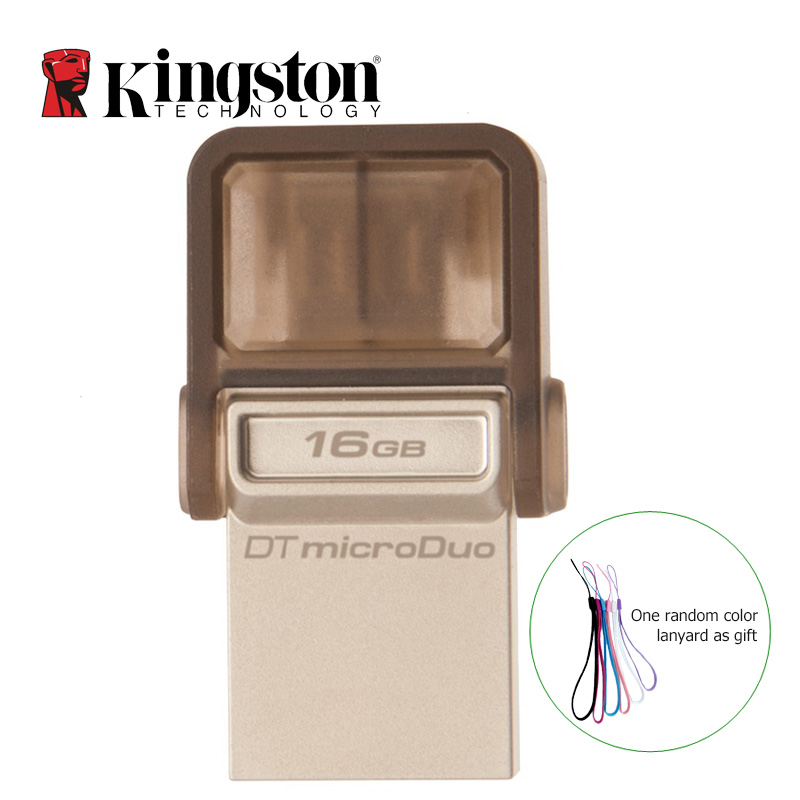 Kingston USB Flash Drive USB 2.0 64GB 32GB 16GB 8GB USB Memory Flash Stick OTG Pen Drive 2-in-1 Mobile Phone Tablet Pendrive(China (Mainland))