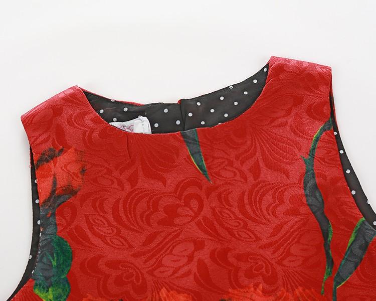 Скидки на Девушки одеваются Цифровой Цветочный Принт Дети Платье Принцессы 2016 Новый Новорожденных Девочек Платье Без Рукавов Дети Платья для Девочек