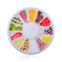 Fruit 3d DIY nail art bijoux ongles strass ongles decoracion de unas nail glitter decorazioni unghie  for nails new fashion