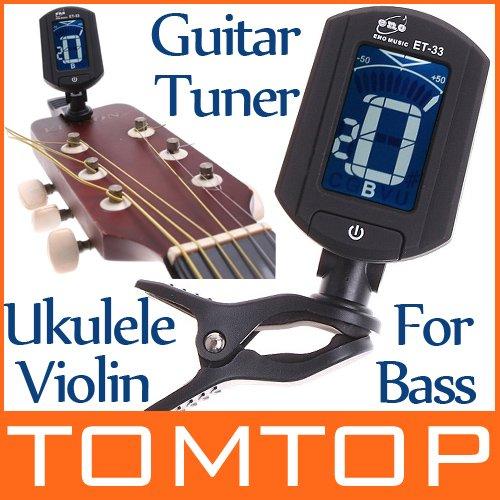 ENO Guitar Tuner Turning 360 degree LCD Digital Tuner for Chromatic Guitar Bass Violin Ukulele Stringed Instrument(China (Mainland))
