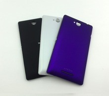 Free shipping Back Battery Cover Case Door Housing with Buttons For Sony Xperia C S39h C2305 – Black White purple