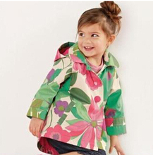 2015 new girls cotton floral casual windbreaker jacket free shipping