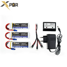 Lipo battery 11.1V 3s 3000mAh 30C max 35C EC3 plug 3pcs Xpower batteries with charger for RC Helicoptes Airplane drone parts