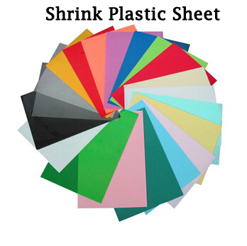 DIY Magic Shrink Plastic Sheet Clear Film Red Yellow Blue Black Multi Color Educational Toys Creative Ability Development(China (Mainland))