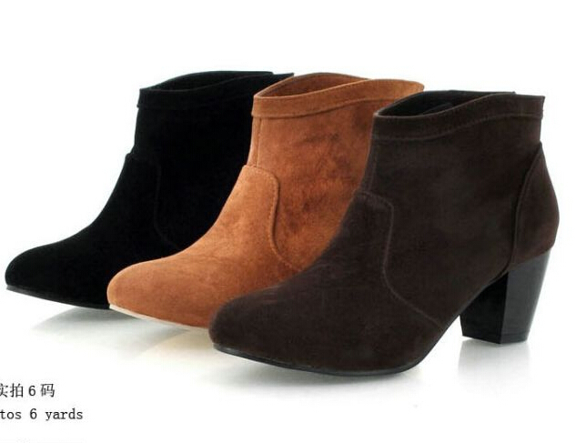 large size 9 10 11 12 toe ankle boots western