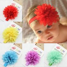 Chiffon floral headband newborn Photography Prop baby hair wear hairband infant accessories