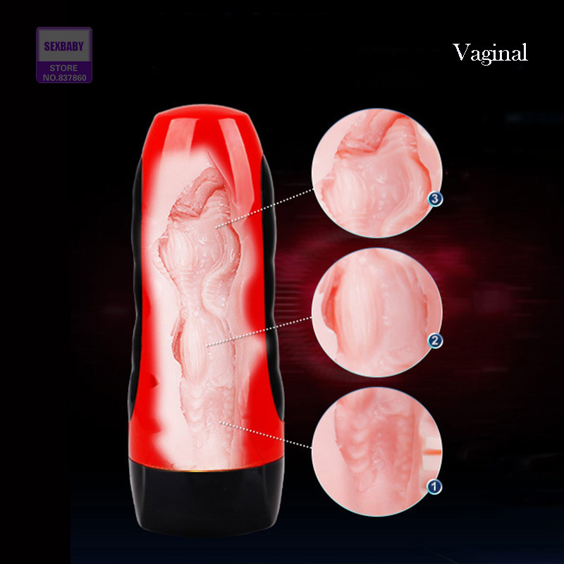 Electric Male Masturbator USB Rechargeable Artificial Vagina, realistic Girl Pussy Oral Sex Adult Sex Products for Men(China (Mainland))