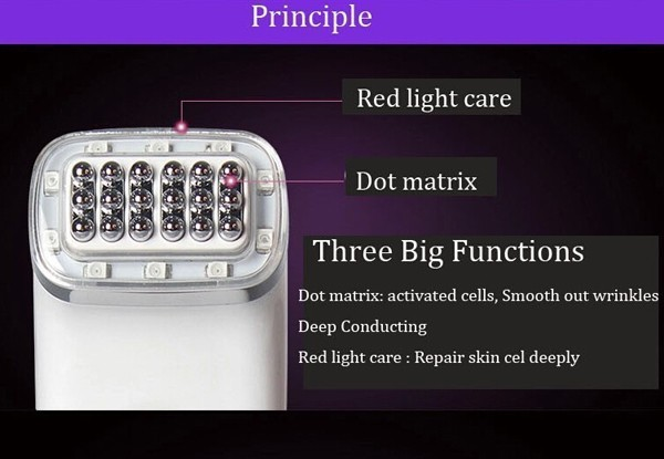 Free Shipping  Portable Home Use Electric Infrared Microcurrent Anti Aging Forehead Wrinkle Removal Face Beauty Facial Massager