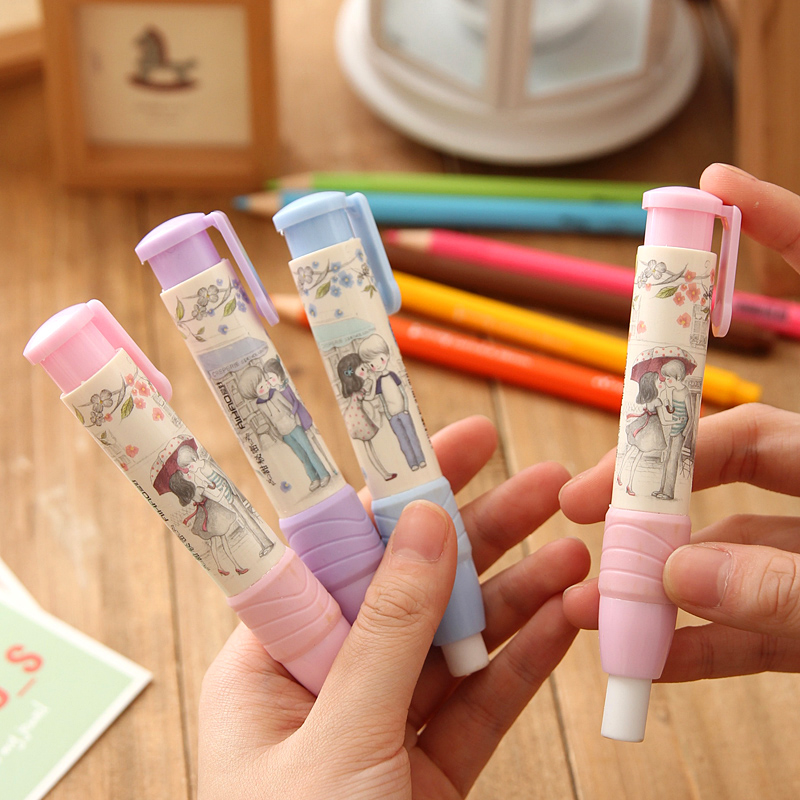 New Fashion Students Pen Shaped Eraser Rubber Stationery Kid Gift Toy Cute Pupils Supplies(China (Mainland))