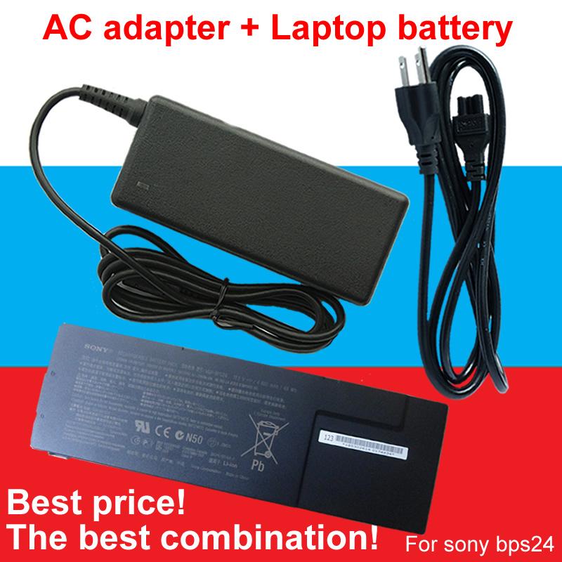 1pcs AC Adapter+1pcs battery For Sony VGP-BPS24 VGP-BPL24 VAIO SA/SB/SC/SD/SE VPCSA VPCSB VPCSC VPCSD VPCSE(China (Mainland))