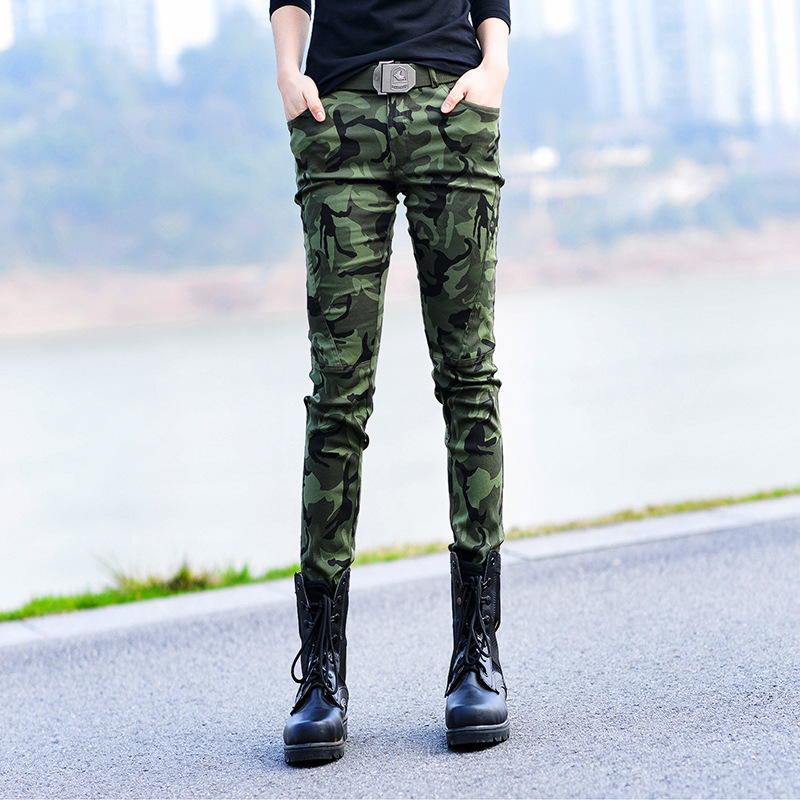 Military quality! 2016 new fashion women camouflage cozy cargo pants,slim casual outdoor sports pants(China (Mainland))