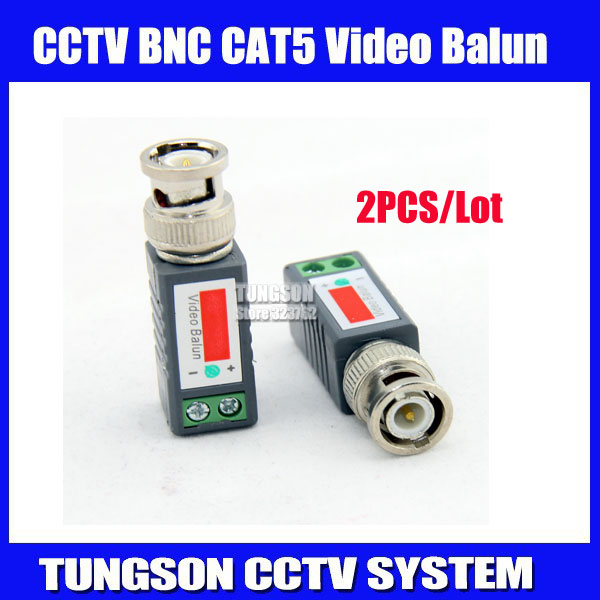 2pcs CCTV Twisted BNC Passive Video Balun Transceiver Coax CAT5 Camera UTP Cable Coaxial Adapter Camera DVR Free Shipping(China (Mainland))