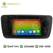 Quad Core 16GB Android 5.1.1 7″ HD 1024*600 DAB+ 3G Car DVD Player Stereo Screen Radio PC For Volkswagen VW Seat Ibiza 2009-2014