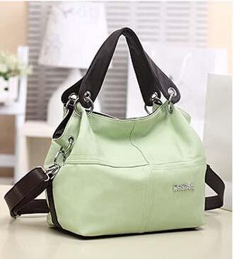 Free shipping! PU leather pack women messenger handbag/Splice grafting sac Vintage Shoulder fake pra*a bag simple durable(China (Mainland))