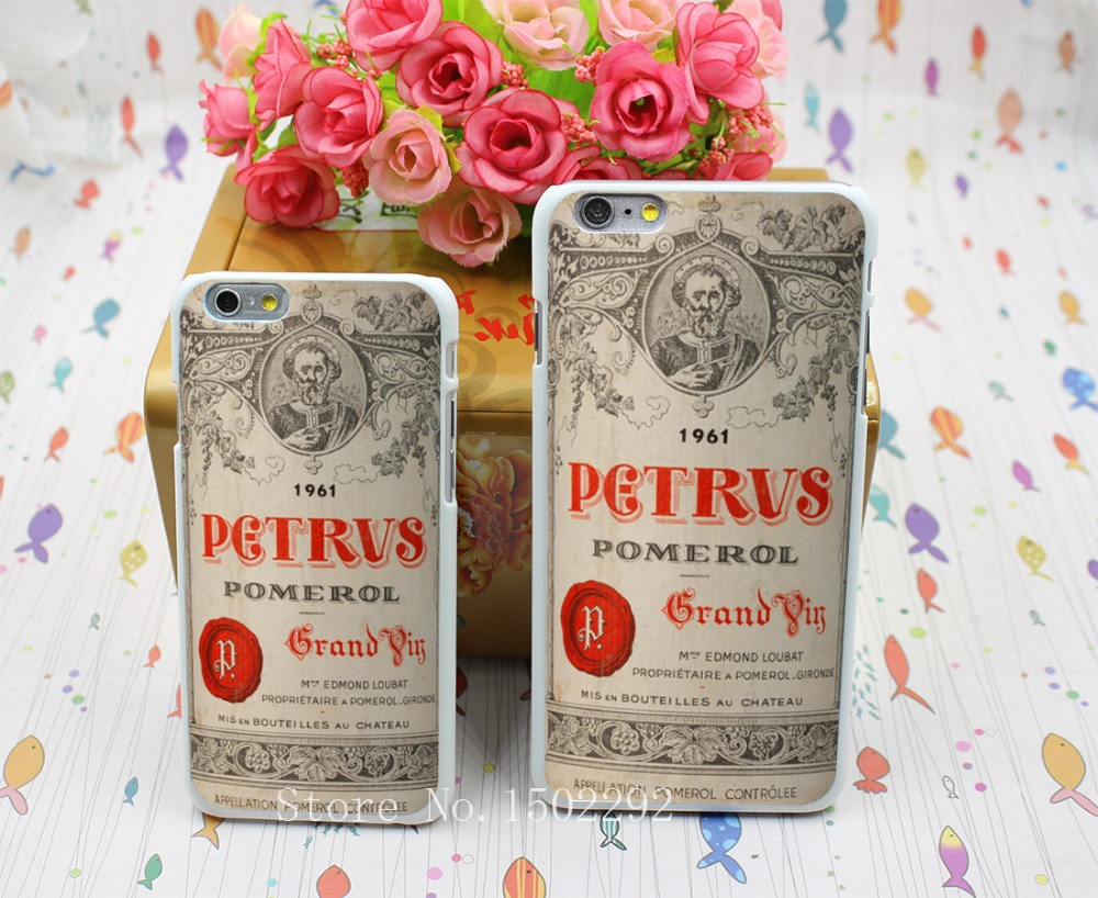 New Arrival Cool Chateau Petrus Wine 1990 Logo Back Skin Case for iPhone 6 6s 6 plus Protect Cell Phone Cover(China (Mainland))