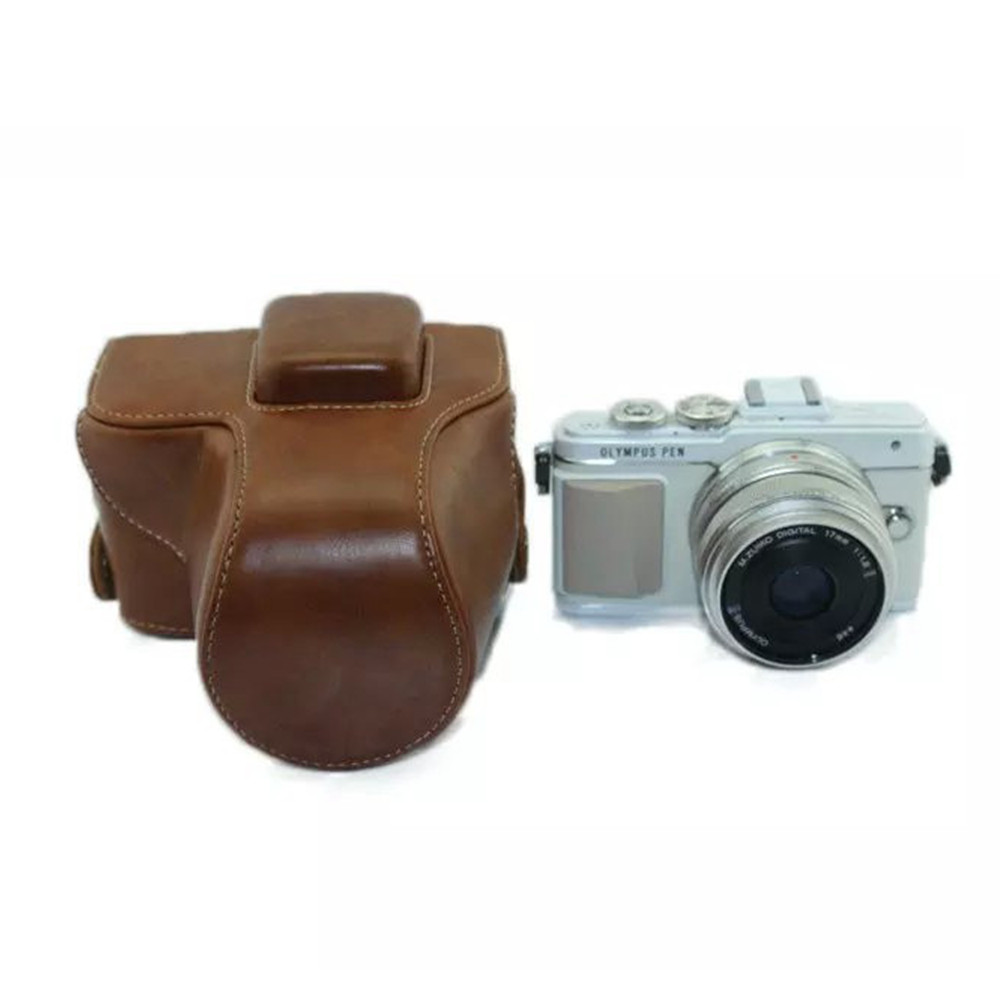 Free shipping PU Leather Camera Bag for Olympus E-PL7 EPL7 Black/Brown/ Coffee Case(China (Mainland))