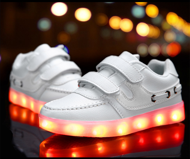 2016 Children New Led Light Shoes Baby Kids Brand Usb Charger Luminous Glowing Boys Girls Fashion Sneakers 4603 - kids allin store