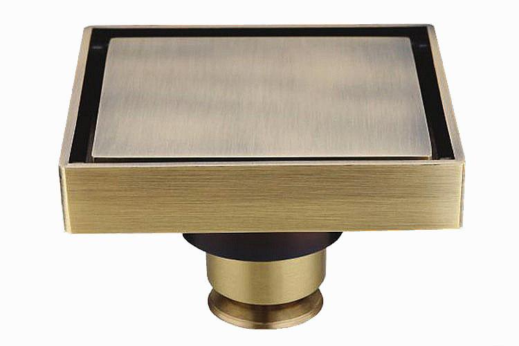 produto Free shipping Euro Style Antique Brass Seni Ukir Kuningan Lantai Drainer Limbah Tiriskan Penutup Shower DR029-1