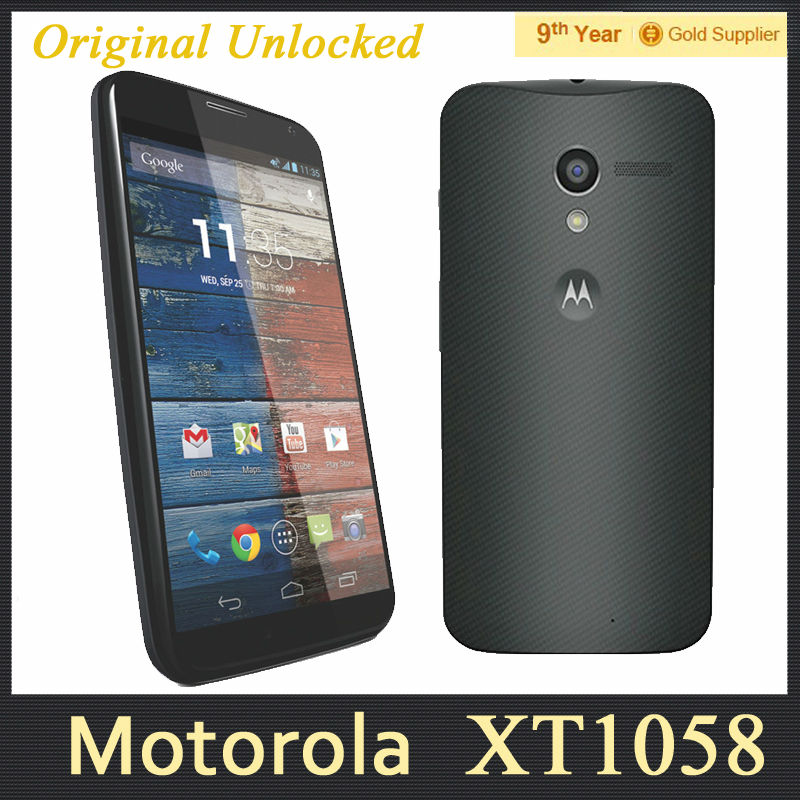 "Motorola Moto X  XT1060 XT1058 Original Cell Phone 4.7""inch 2GB RAM 16GB ROM 10MP Camera GPS 3G Refurbished Android Phone(Hong Kong)"