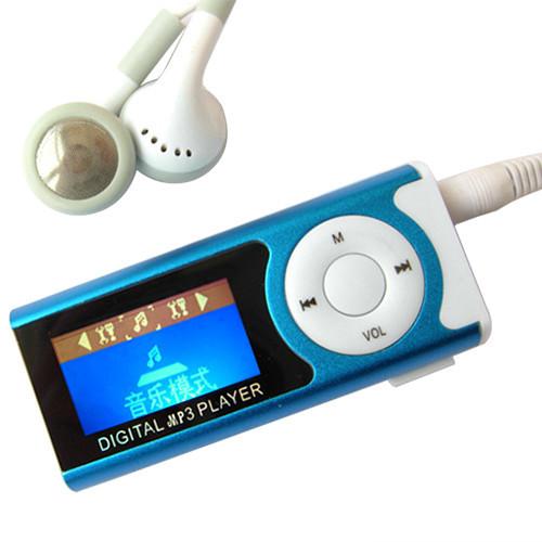 New Portable MP3 LCD Screen Metal Mini Clip MP3 Player Support Micro TF/SD Card Slot Music players 5QR3 7B9B(China (Mainland))