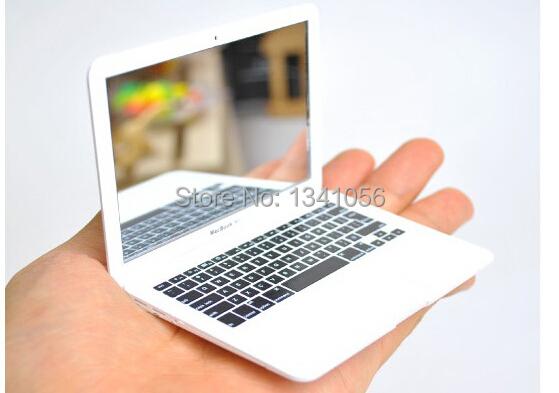 1pcs Portable Apple Notebook style Creative Make Up Mirror (B112)(China (Mainland))