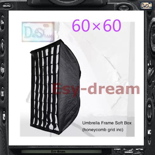 Honeycomb 60*90 Grid Umbrella Frame Photo Studio Rectangle Softbox Soft Box For All Strobe Flash Lighting PS117(China (Mainland))
