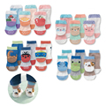 New Arrival 3 Pairs 2 6 Years Cartoon Pattern Kids Boys Girls Anti Slip Sole Meias
