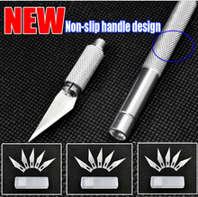 Metal Handle Hobby Knife/cutter knife / craft knife / pen cutter+5pcs Blade Knives set for PCB Repair DIY tool