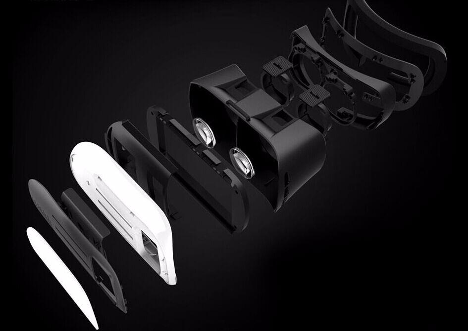 ถูก 2016G Oogleกระดาษแข็งVR BOX II 2.0รุ่นVRเสมือนความเป็นจริงแว่นตา3Dสำหรับ3.5-6.0นิ้วมาร์ทโฟน+บลูทูธควบคุม1.0