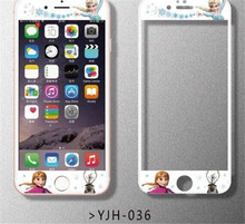 2016 hot Cartoon Front Tempered Glass Film for iPhone 6 6s/6 plus Screen Protector case cover