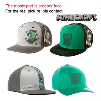 Adults/Kids Adjustable Snapback Hat Golf Baseball Caps Minecraft figure Toy Kids Toys Birthday & Christmas Gifts Free Shipping