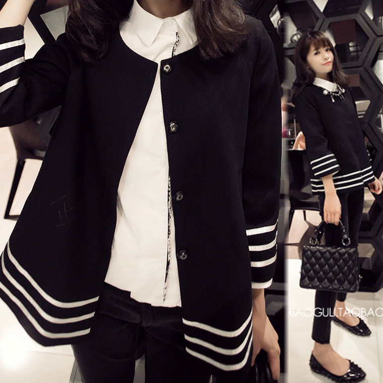 New 2015 Juniors clothing sweet elegant three quarter sleeve design short outerwear 2015 spring top clothes women outwear(China (Mainland))