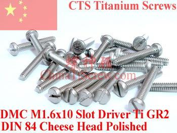 Titanium screw M1.6X10 DIN 84<br><br>Aliexpress