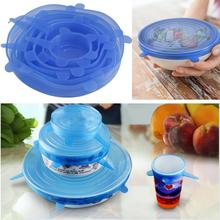 Universal silikon saug Deckel- schüssel pan kochtopf deckel- silizium Stretch-Deckel silikonhülle Küche pfanne spill deckel stopfen abdeckung(China (Mainland))