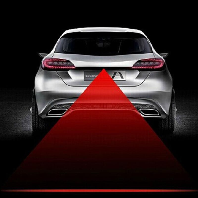 12V Led Car Laser Fog Light Rear AntiCollision Driving Safety Signal motorcycle Warning Lamp Brake Auto Parking Lamp Car Styling(China (Mainland))