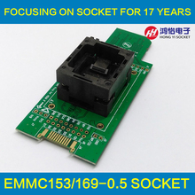 eMMC test Socket to SD, eMMC adapter, for nand flash testing, for BGA 169 and BGA 153, size 14x18mm , for data recovery(China (Mainland))