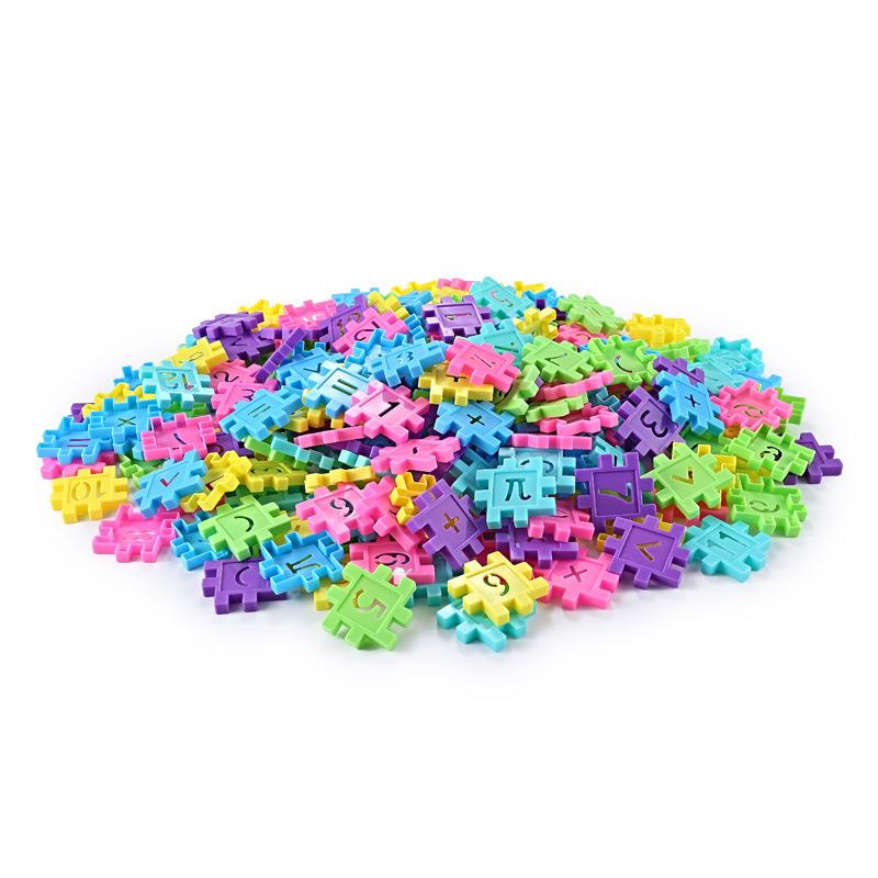 130 шт Детские игрушки набор квадратные блоки пластиковые для маленьких мальчиков b