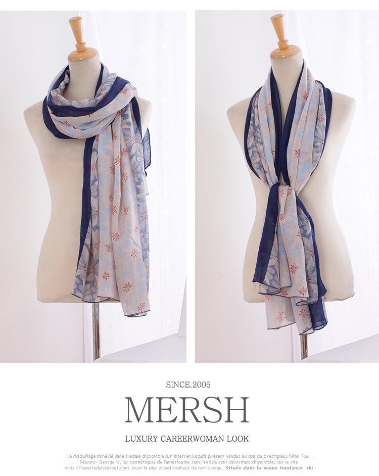 aliexpress buy floral cotton scarf shawls muslim