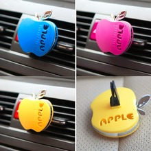 Auto Car Air Freshener Outlet Perfume Scent Interior Apple Shape Aromatherapy Fashion Car Air Freshener Car Styling(China (Mainland))
