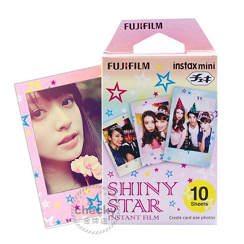 Fujifilm Fuji Instant Instax Mini Film Shiny Star 10 Sheets film Photo Fujifilm For Fuji Instax Mini 8 7 7s 25 50 70 SP-1 Camera(China (Mainland))